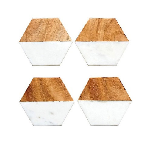 Hexagon Coasters-Set of 4