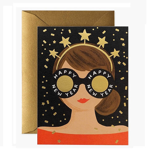amuse l Shoppeamuse l Rifflepaperco Holiday Greeting Card l New Year Girl Card