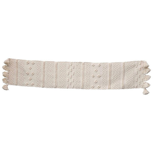 Woven Cotton Textured Table Runner