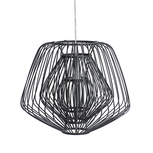 amuse l Shoppeamuse l Zodax Bamboo & Rattan Layered Diamond Pendant l Celing Light