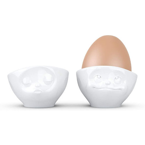 amuse | shoppeamuse | Tassen Porcelain Egg Cup Set No. 1, Kissing & Dreamy Face