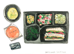 14 Days Quarantine Meal Drawing Project Day 9 Lunch