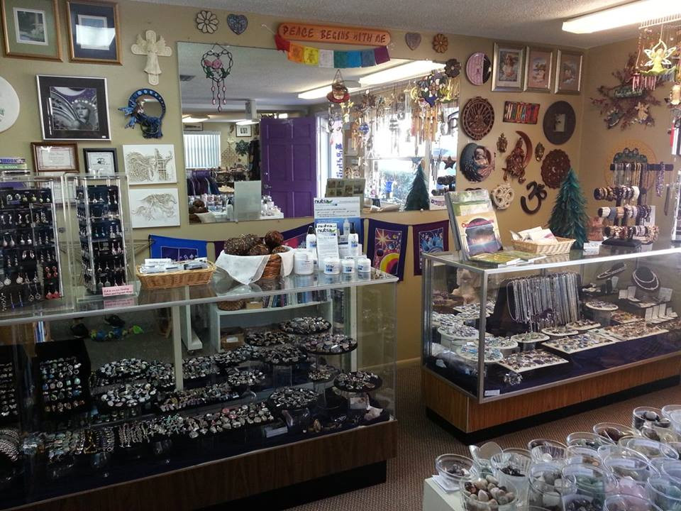 inside the metaphysical shop of Angelic Touch Light Center, New Port Richey