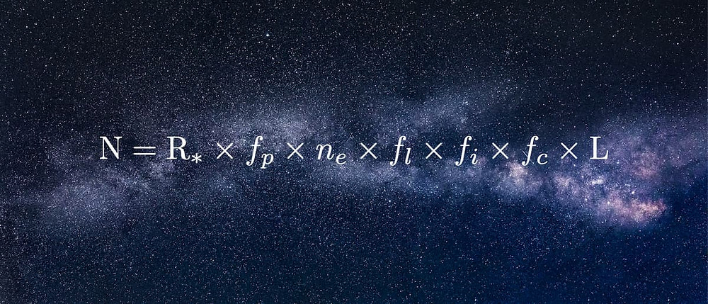 The Drake Equation with the universe in the background