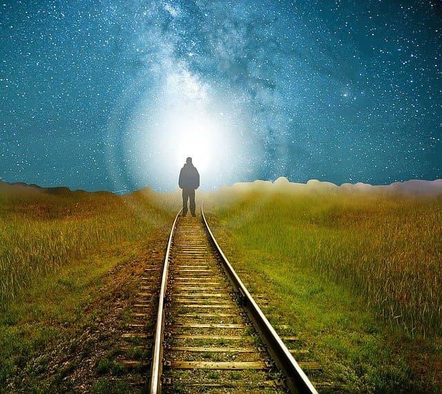 Man after death walks toward the light