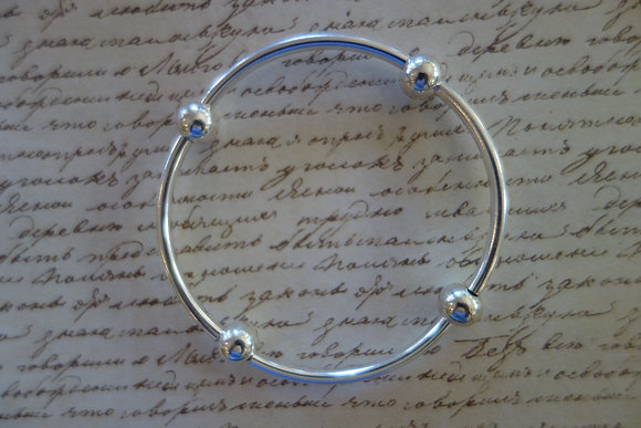 Sterling Silver Ball and Bar Bracelet