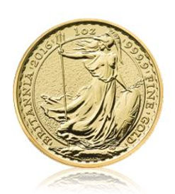 Arany érme Britannia