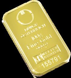 100gr Arany tömb Münze Österreich