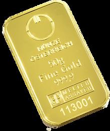 50gr Arany tömb Münze LBMA