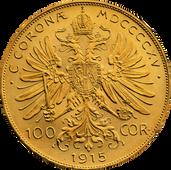 100 koronás arany érem