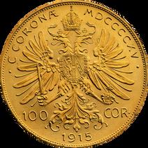 100 koronás arany érme