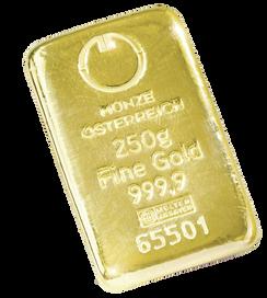 250gr Arany tömb Münze Österreich