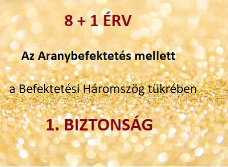 8 + 1 ÉRV az Aranybefektetés mellett