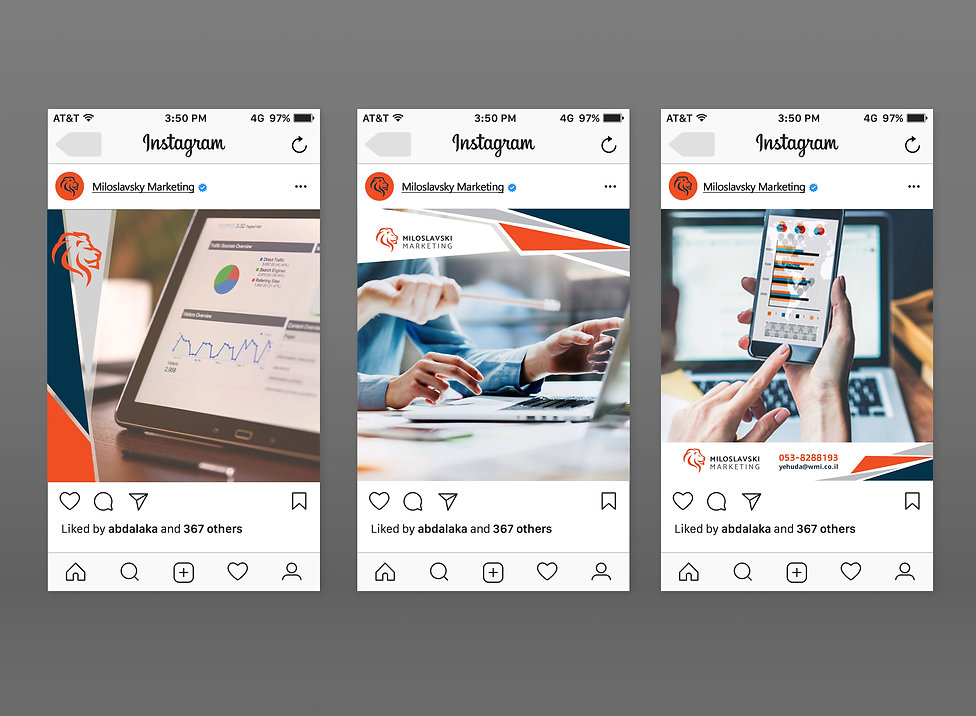 Free Instagram iPhone & Android UI Mocku