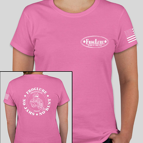 "FrogLube Women's ""Legacy"" Fighting Frog Crew Neck Short Sleeve Tee PINK"
