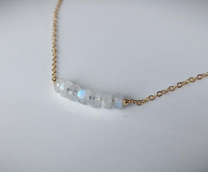 Blue Moonstone - 14 k Gold Filled or Sterling Silver