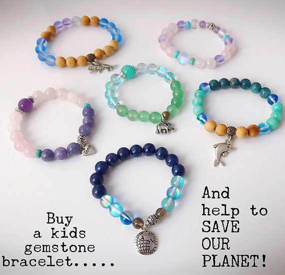 Kids Gemstone Bracelets ($5 from every bracelet helps to SAVE OUR EARTH!)