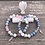 Thumbnail: Angel Healing Bracelet with Angelite, White Howlite and Rose Quartz