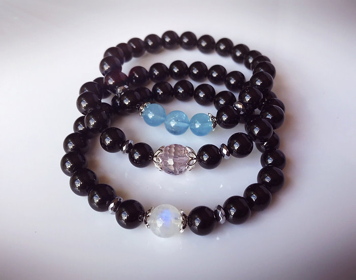 Black Tourmaline for Grounding and Protection (with other gemstones)