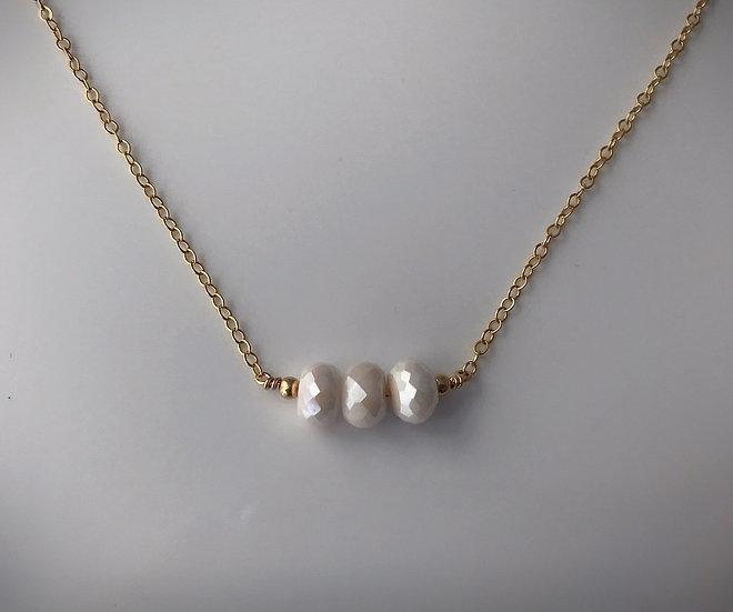 Angel Aura Moonstone - 14 k Gold Filled or Sterling Silver