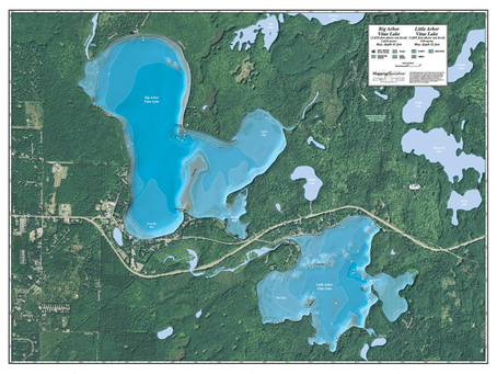 New Print On Demand Maps: Mapping Specialists USA Lake Maps