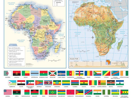 New Print On Demand Maps: Globe Turner Continent Maps
