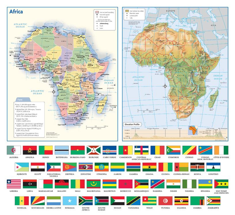 Africa with flags sample