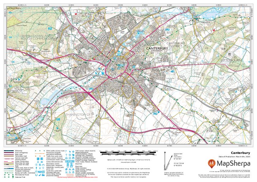 Canterbury Sample Map