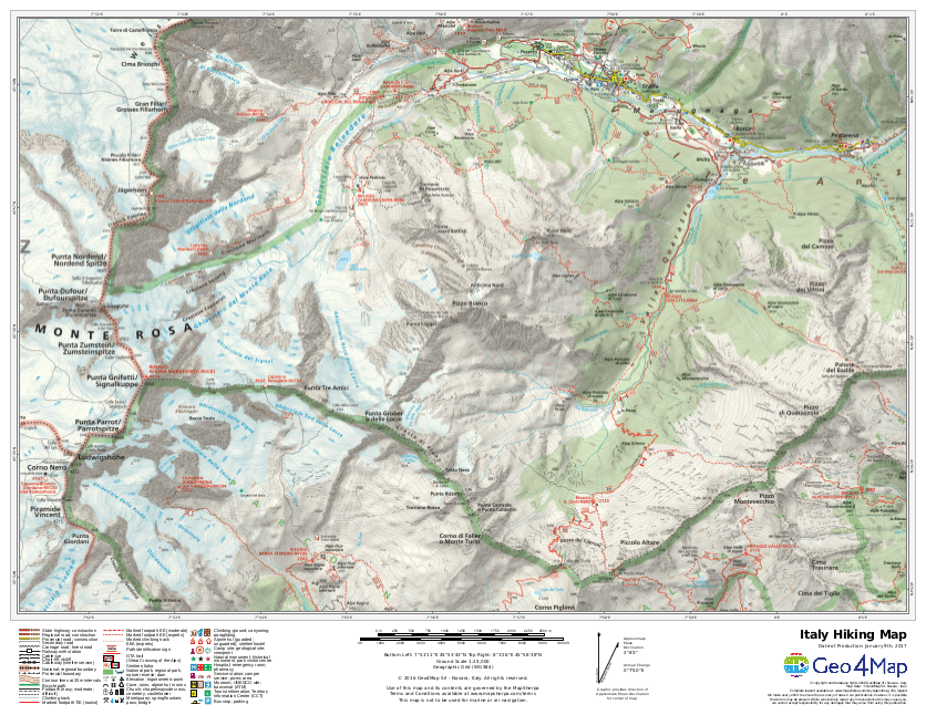 Geo4Map Italy Hiking Map Sample