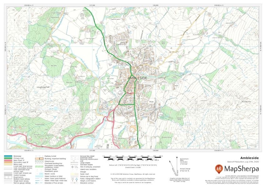 Ambleside sample map
