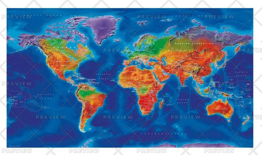 Cosmographics Artistic World Wall map