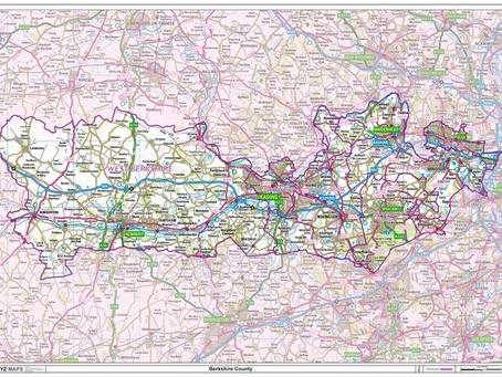 New Print on Demand Maps: XYZ Maps UK County Maps