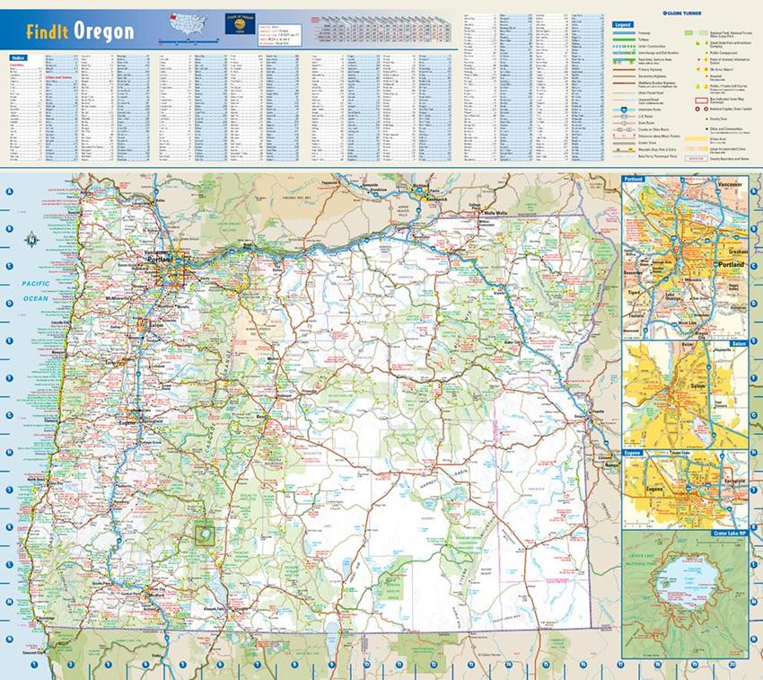 Globe Turner Oregon Sample Map