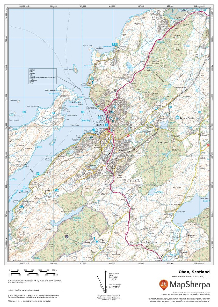 Oban, Scotland Sample Map