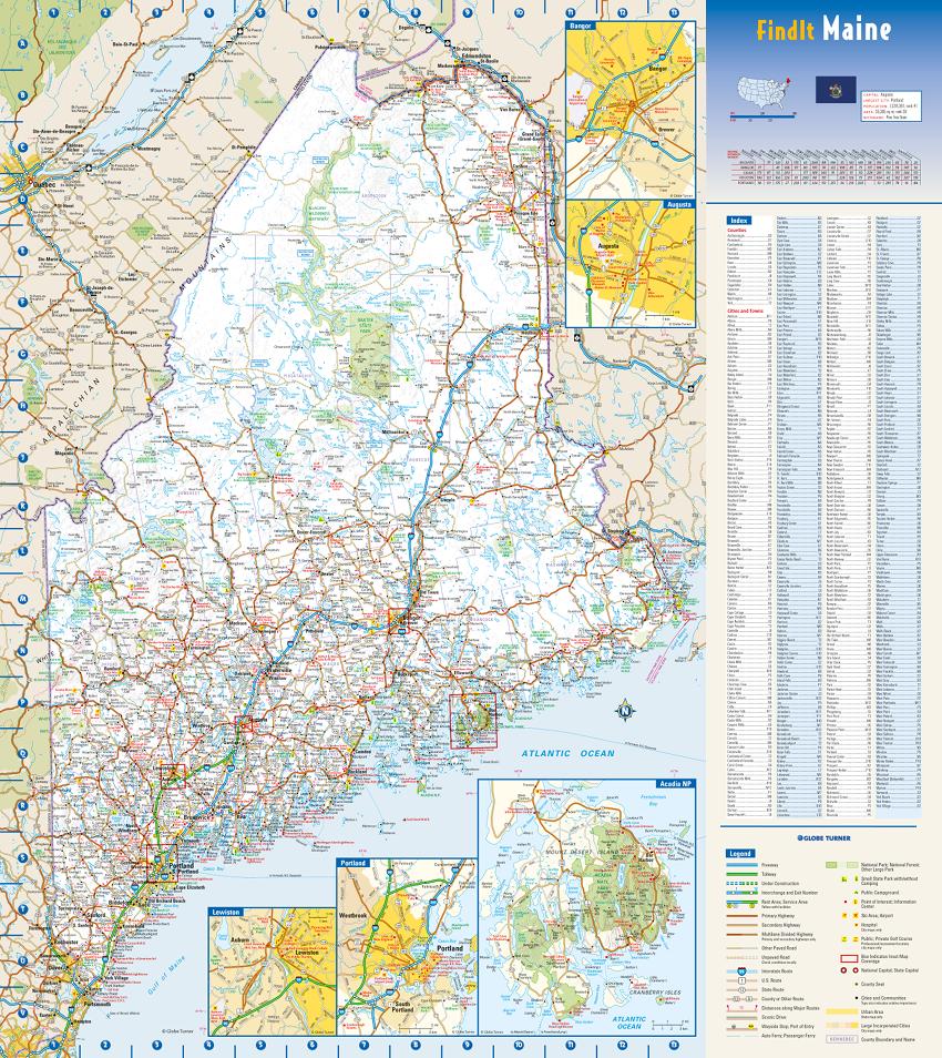 Globe Turner Maine sample map
