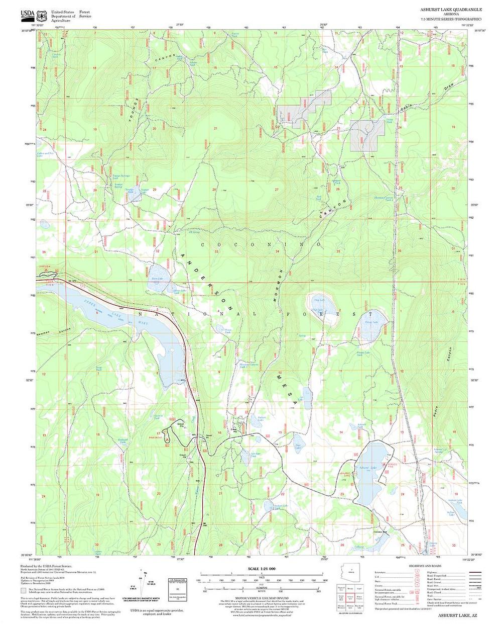 Sample USDA FS map