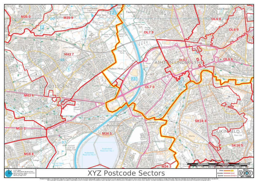 XYZ Postcode Map Sample