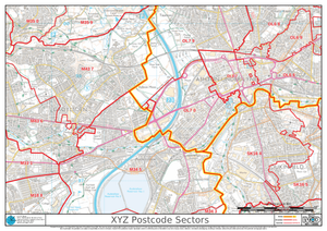 XYZ Postcode Map Sample