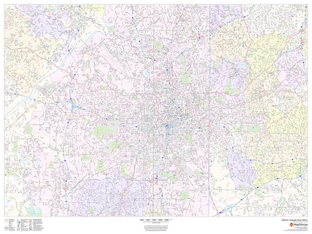 New Print on Demand Maps: Expanded coverage for US Cities Streets and ZIP Code Maps