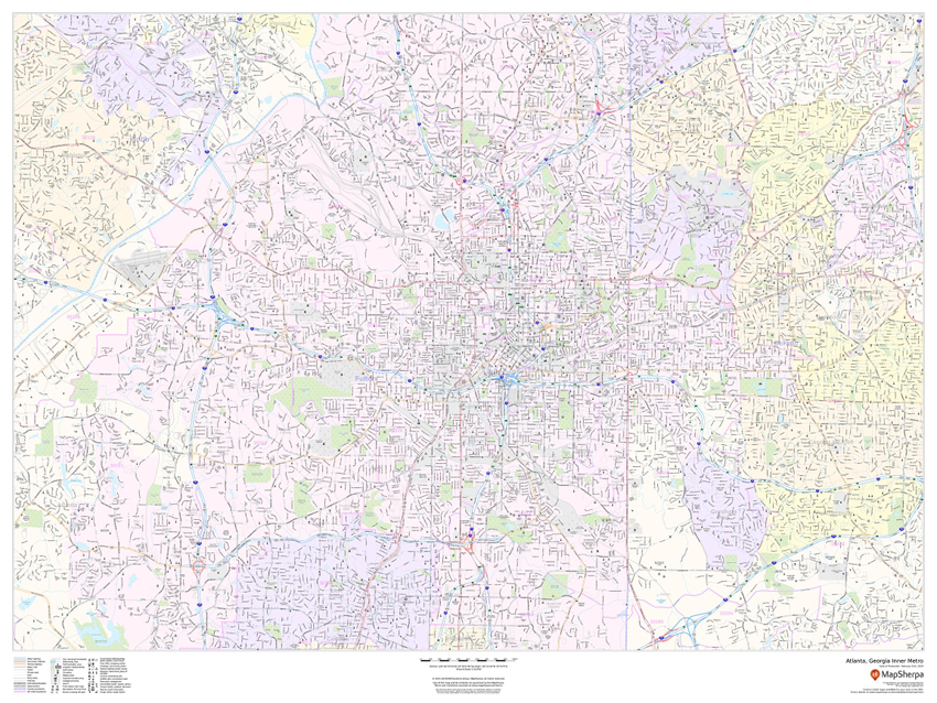 USA Cities sample map