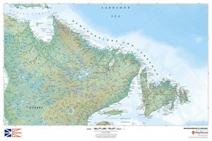 MapSherpa Regional Relief Newfoundland sample map