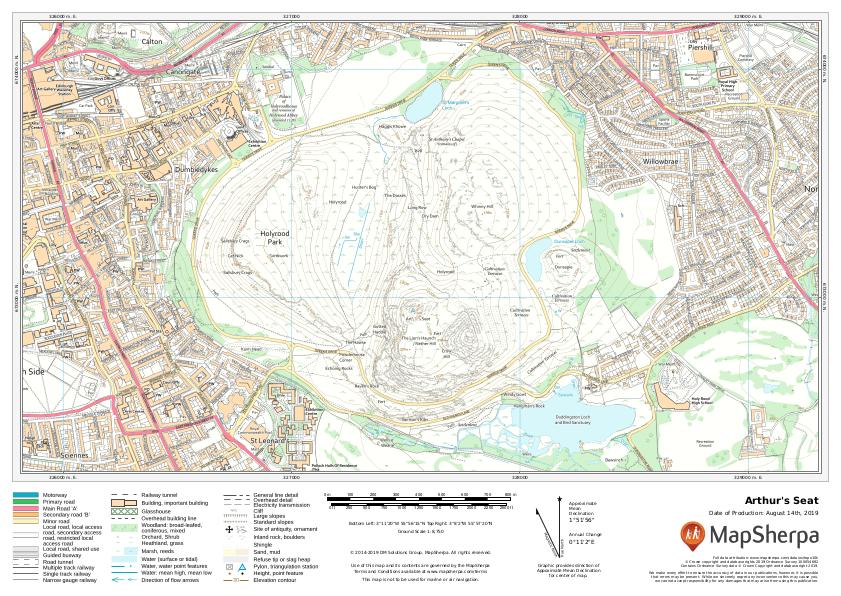 Arthur's Seat Sample Map