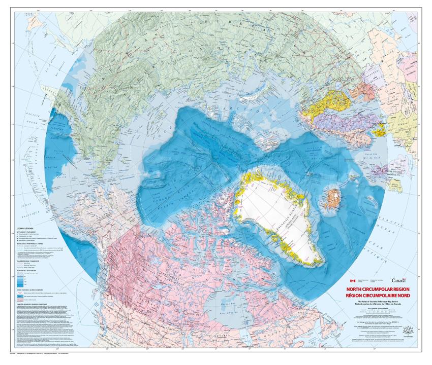 Atlas of Canada map of the circumpolar north