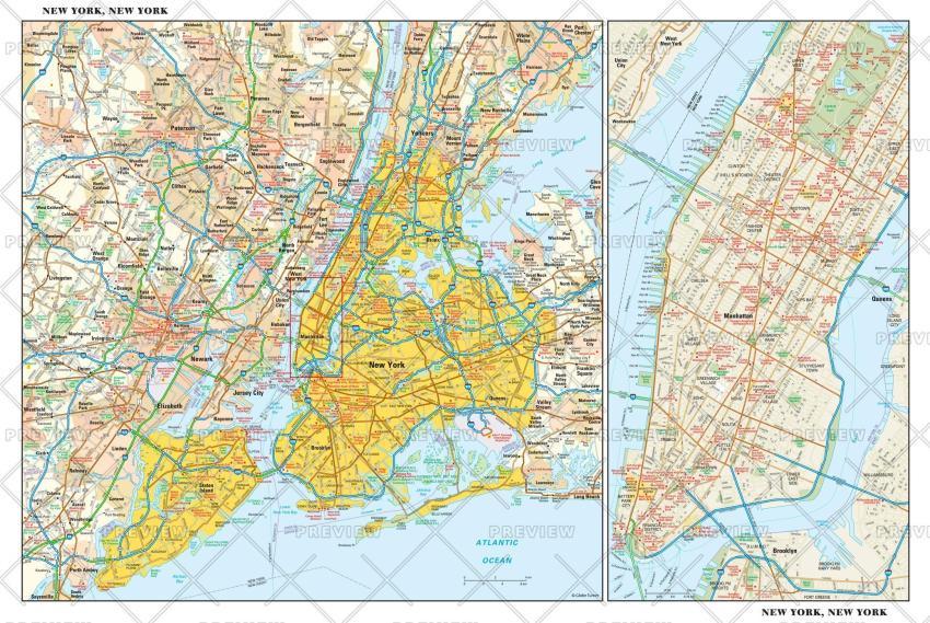 Globe Turner New York City Map