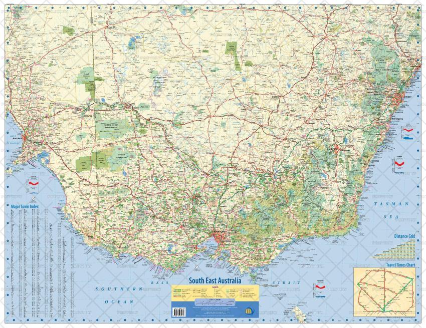 Meridian Maps South East Australia