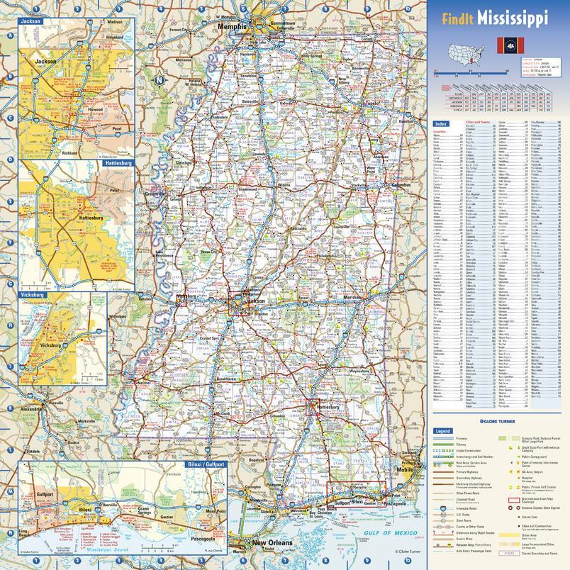 Mississippi State Map Sample