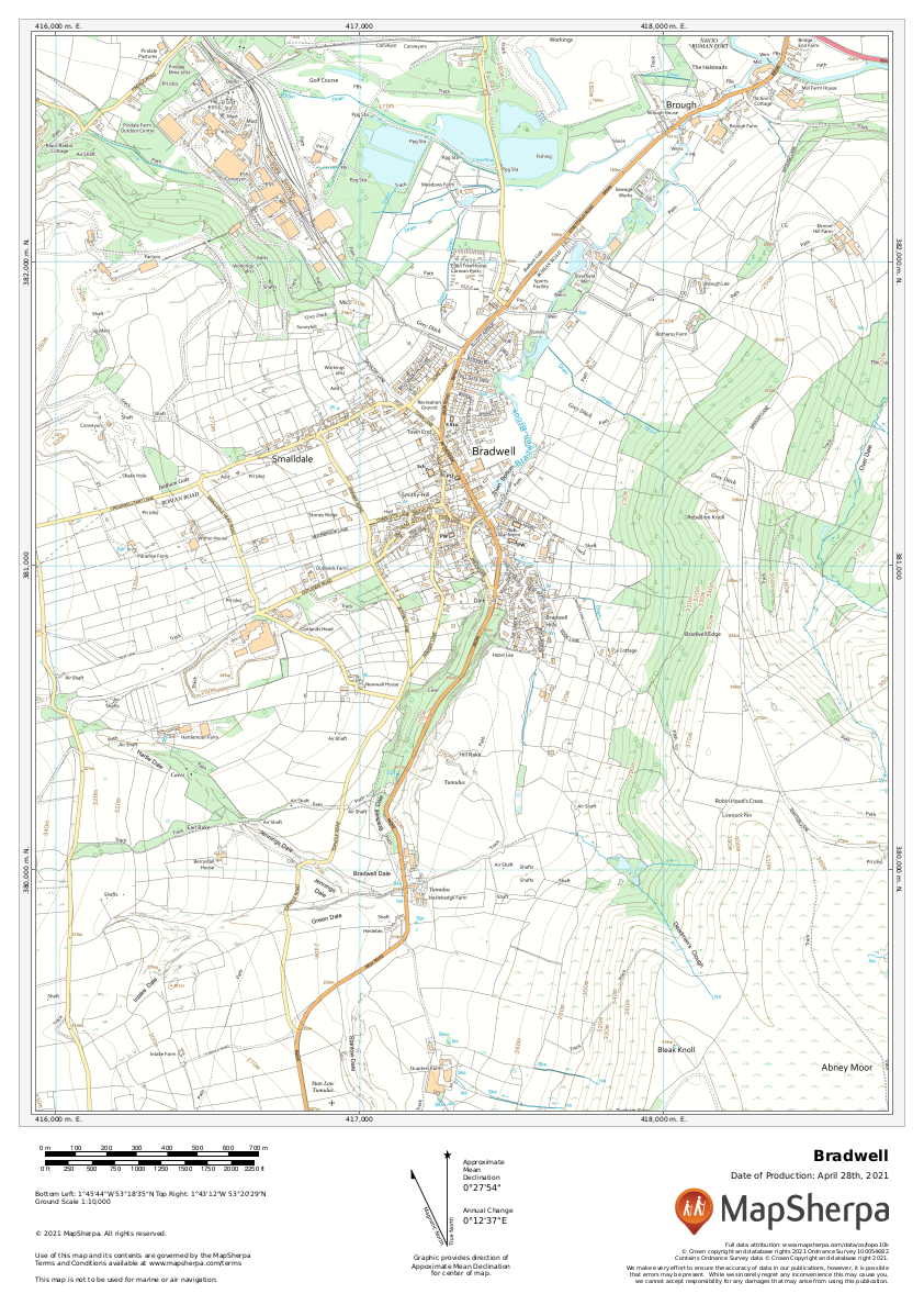 Bradwell Sample Map