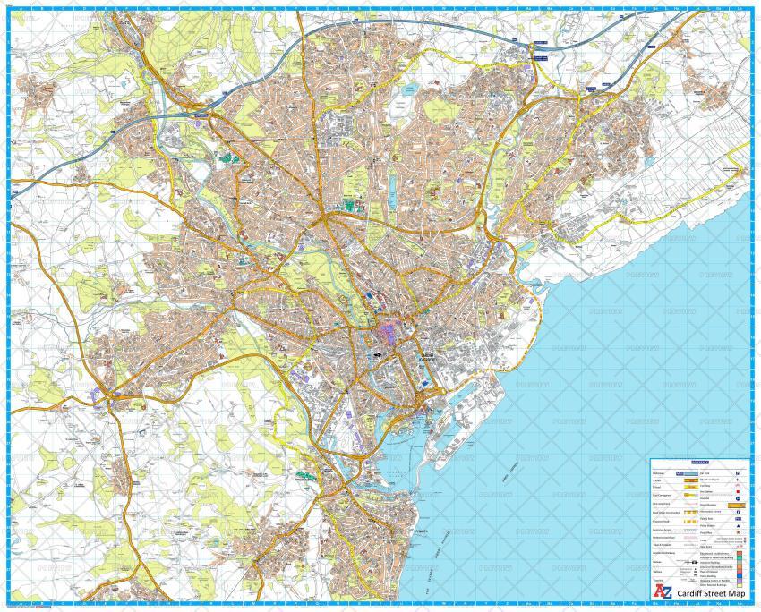A-Z Maps Cardiff