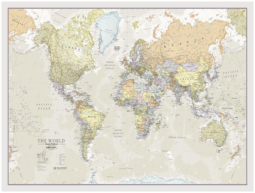 Maps International World Classic Sample Map