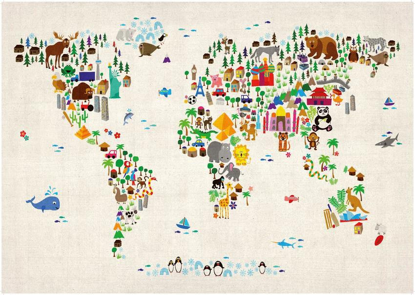 Maps Internation Kids' World Map